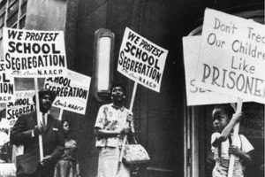 The results of school segregation were studied.