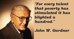 John W. Gardner, an influential Republican in a Democrat's administration.