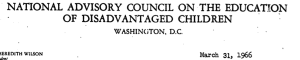 This council was required by the 1965 ESEA to advise the president and congress.