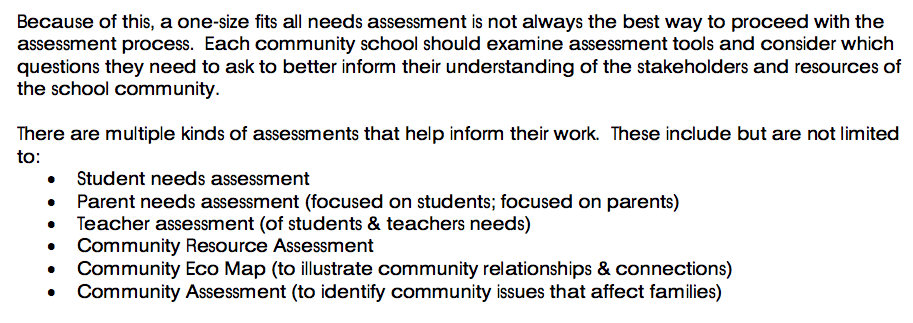 From the Federation for Community Schools
