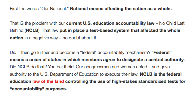 "From blog post titled ""Fixing Our national Accountability System: Part 1."""