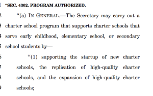 Pre-school charter start-ups aren't considered a new federal program?