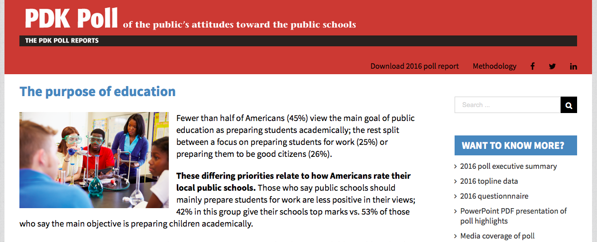 goals of public education